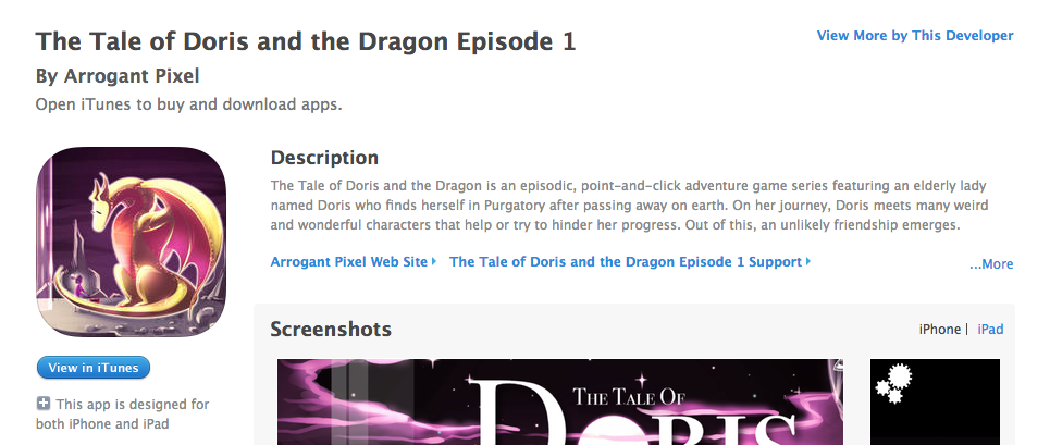Doris and the Dragon is now on App stores!